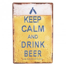 Plechová cedule Keep calm and drink beer