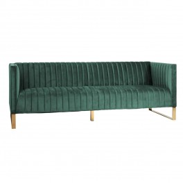 Pohovka Contessa 3-seats Green Velvet/Gold
