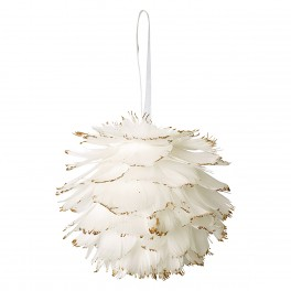 Vánoční ozdoba Feather ball off white large hanging